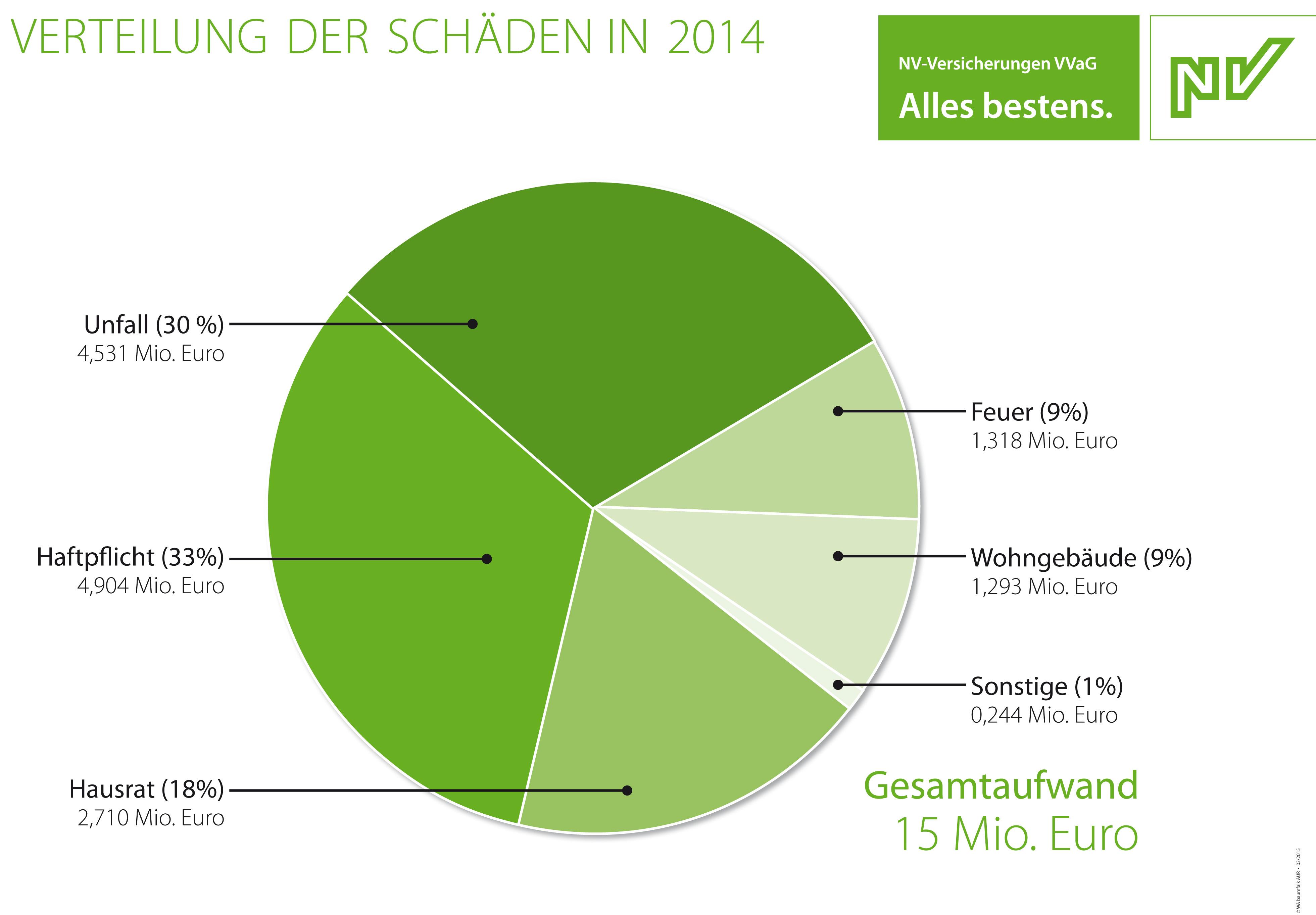 Verteilung der Schäden in 2014