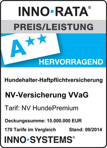 """NV HundPremium - ausgezeichnet mit """"hervorragend"""""""